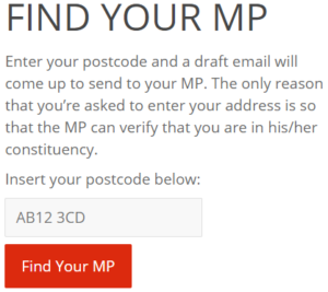 Find Your MP - The CSRRR