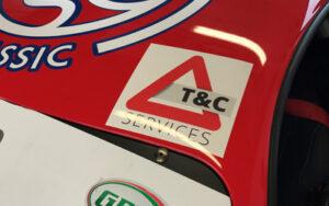 T & C Logo on Ferrari