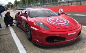 Ferrari in the pit lane